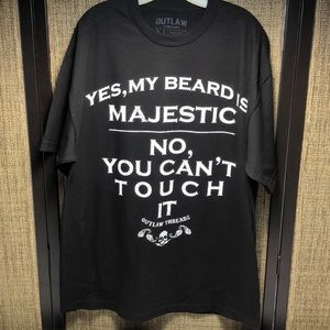 Outlaw Threadz Yes My Beard Is Majestic SS TShirt